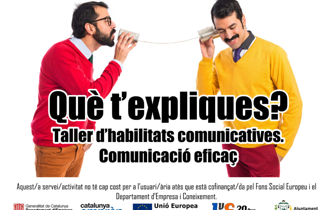 Taller d'habilitats comunicatives a L'EINA Espai Empresarial