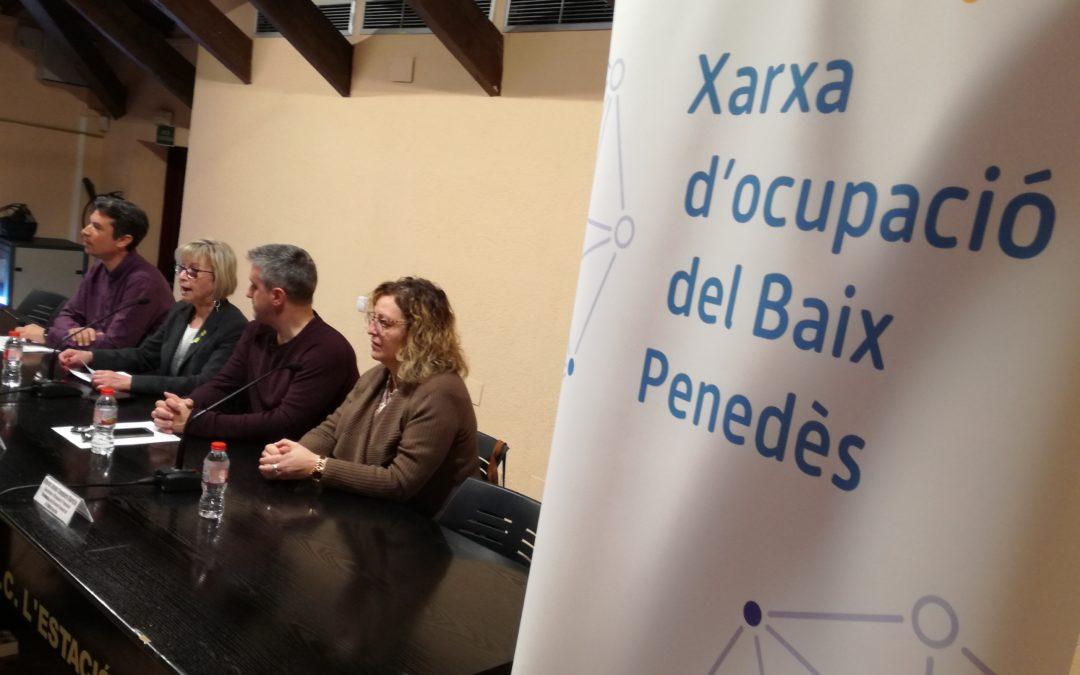 La Xarxa d'Ocupació del Baix Penedès té l'objectiu de superar el 65 % d'inserció laboral el 2019