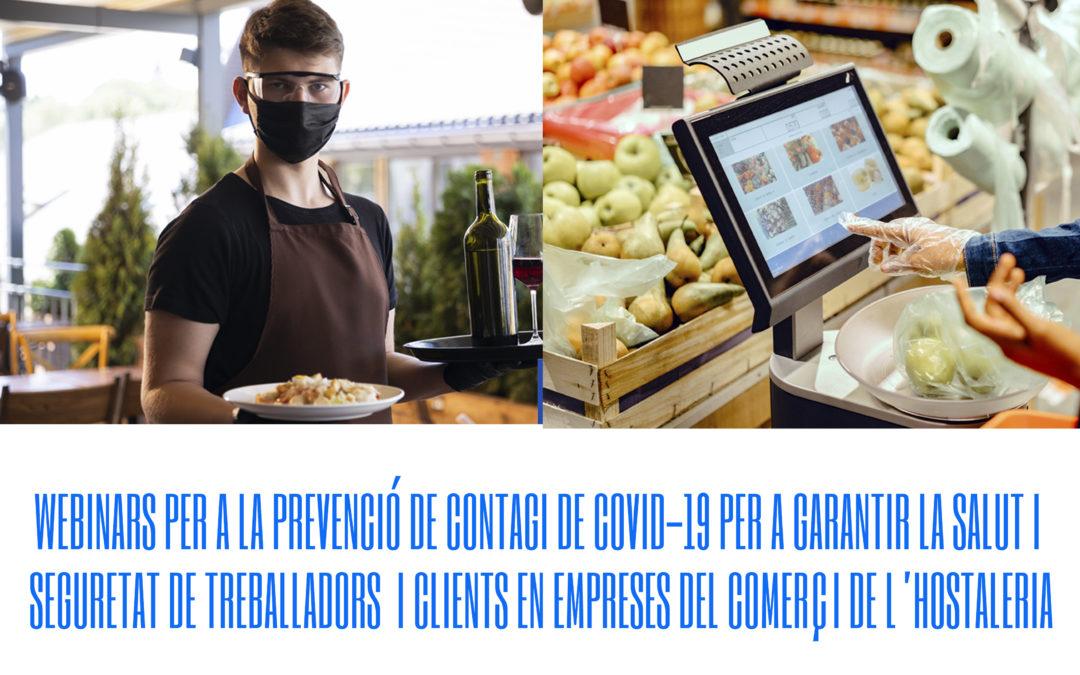 WEBINARS PER A LA PREVENCIÓ DE CONTAGI DE COVID-19 R