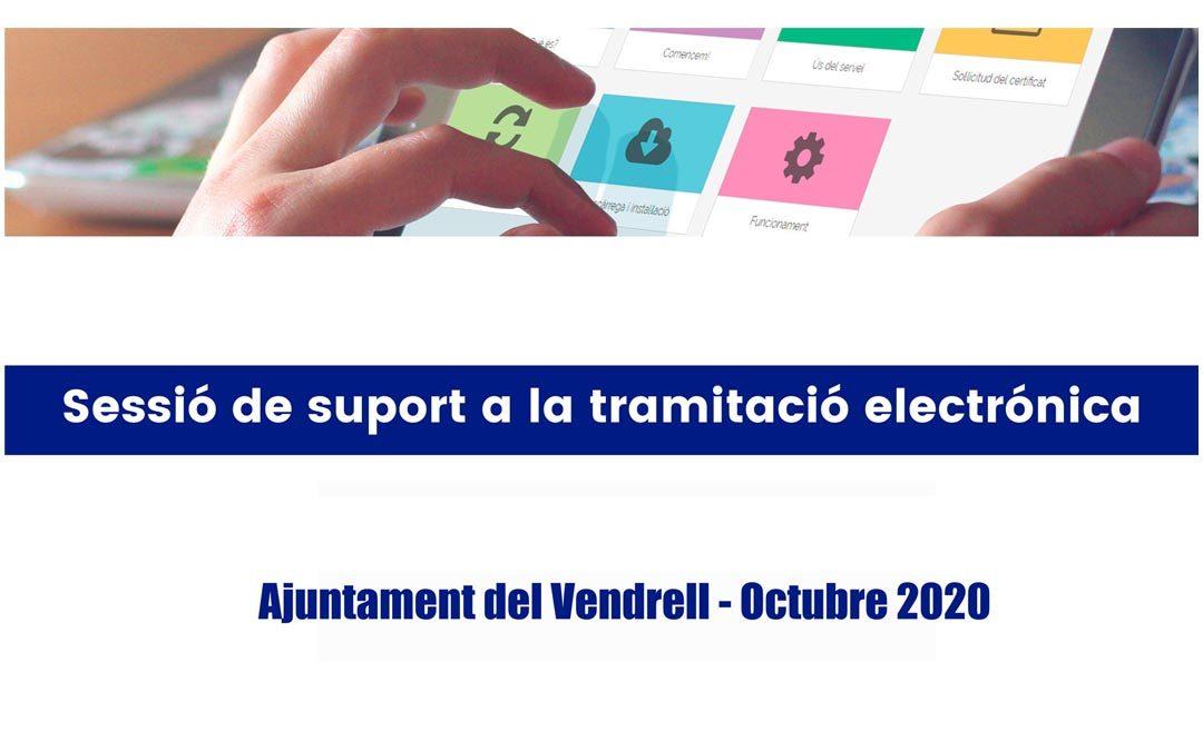 SESSIONS INFORMATIVES ON-LINE SOBRE TRAMITACIÓ ELECTRÒNICA I TRAMITACIÓ D'AJUTS PER A AUTÒNOMS I EMPRESES.