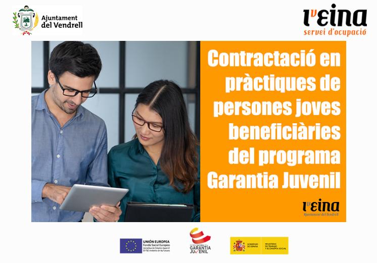 Oferta pública per a la contractació en pràctiques Programa Garantia Juvenil